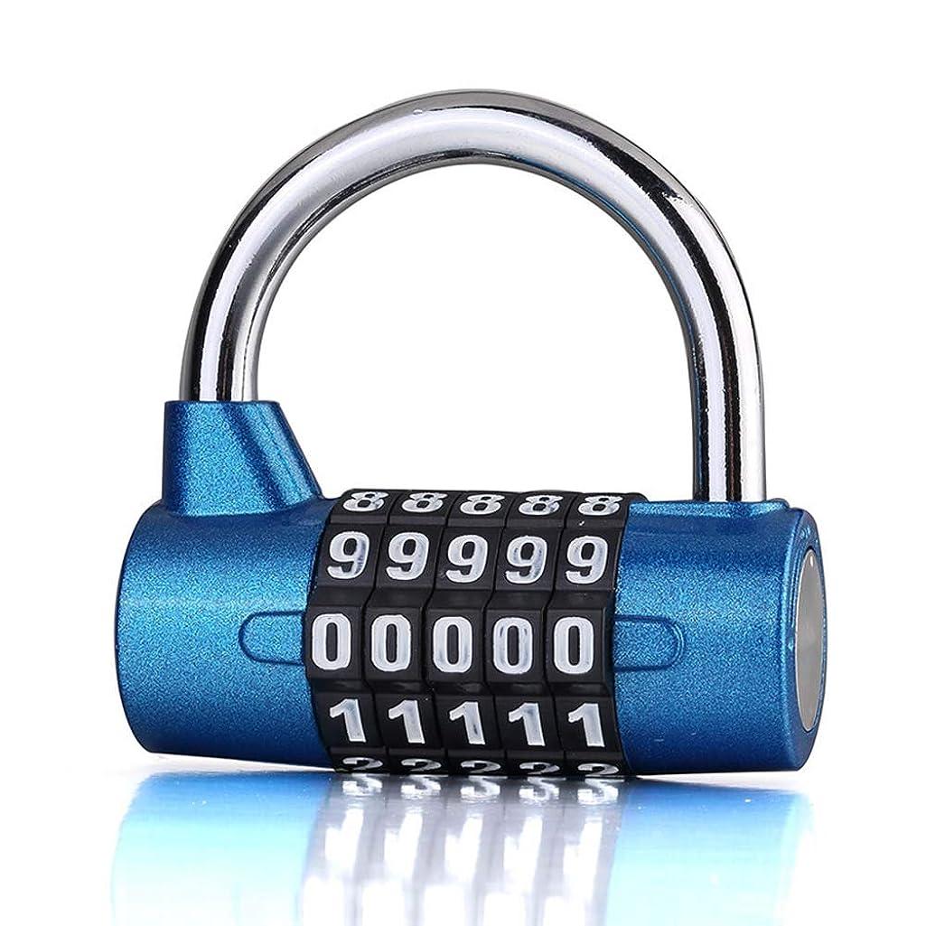 LJXiioo 5 Digital Combination Lock Security Padlock Combination Resettable Locks Waterproof Number Lock(2pcs),Blue