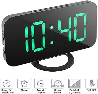 NEXGADGET Reloj Despertador Electrónico Digital Espejo