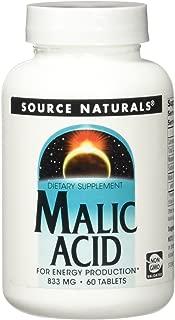 SOURCE NATURALS Malic Acid 833 Mg Tablet, 60 Count
