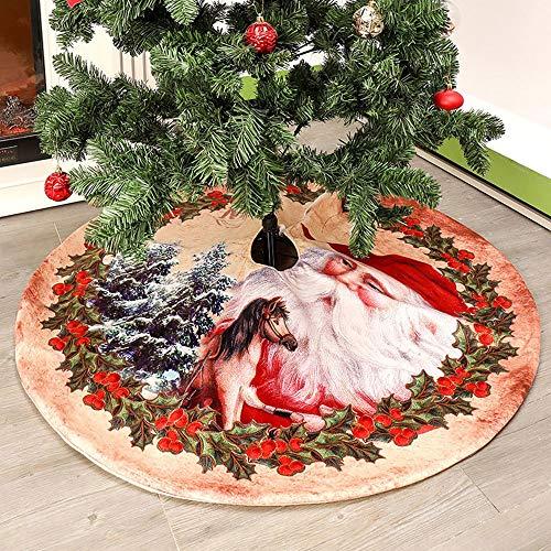 JTWEB Weihnachtsbaum Rock Weihnachtsbaumdecke Weihnachtsdeko Tannenbaum Decke Weihnachtsbaumständer für Xmas Party Weihnachts Dekoration (122cm)