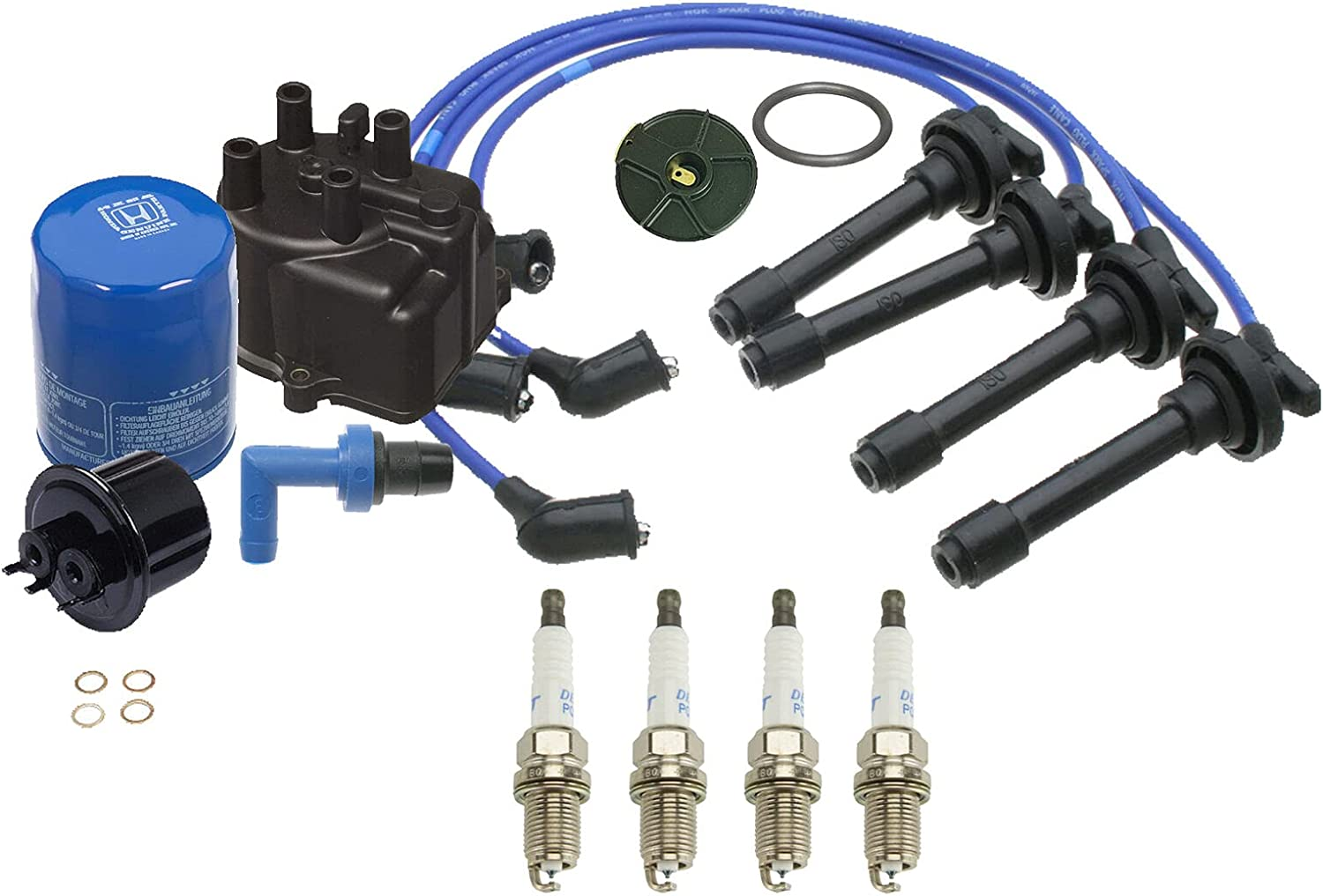 Tune Up kit Cap-Rotor- Compatible Plug-Oil-PCV Same Spring new work day shipping Wires-Spark with