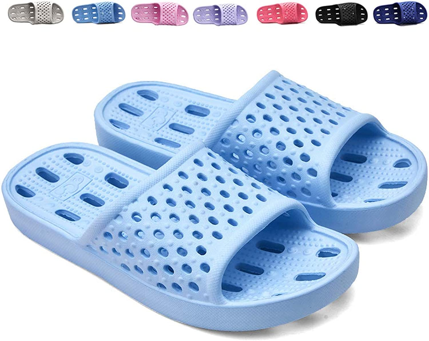 XUANHSU Shower shoes for Mens and Womens Bathroom Slippers Non Slip Soft Sandals Swimming Water shoes