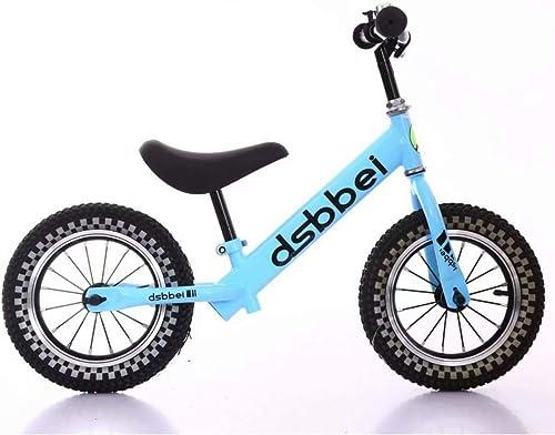 FJ-MC 12  Vélo d'équilibre, avec Guidon réglable et siège, Pas de pédale Vélo d'entraîneHommest à Pied, pour 2-6 Ans Enfants et Tout-Petits,bleu