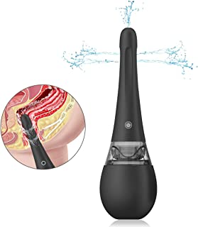 Automatic Electric EnemaBulb for Women - Adorime Rechargeable Vaginal Cleansing System Waterproof Silicone Cleaner Anal Douche Kit with 3 Intensities Modes for Men