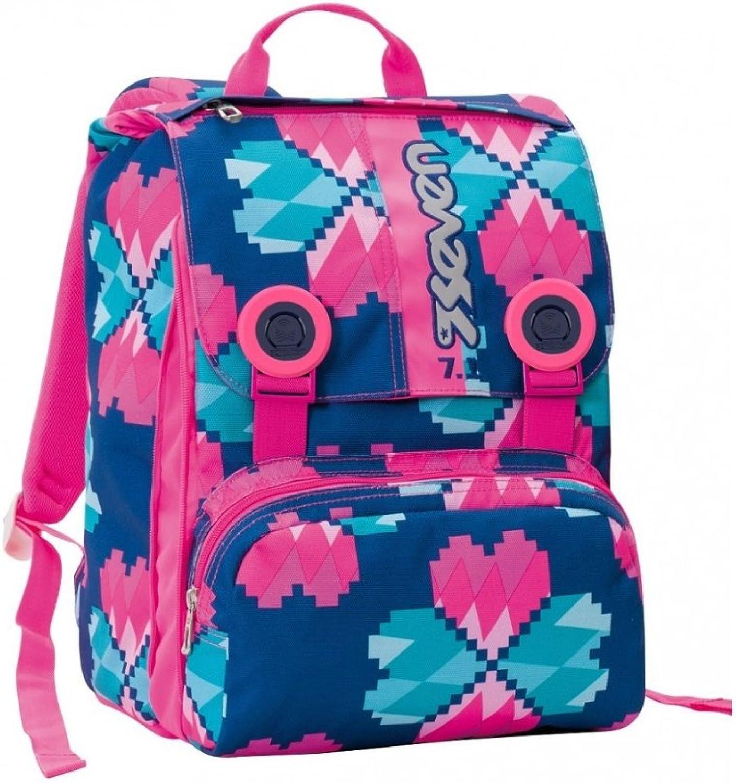 Lucky Flower Seven bluee Split Backpack