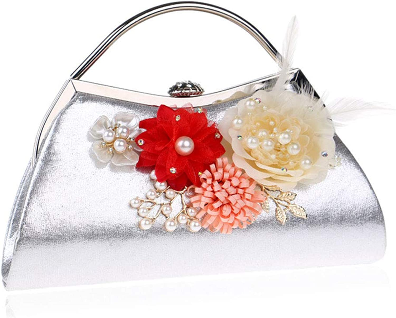 Women's Handbag, Ladies Flower Luxury Party Bag, Evening Bag, Bride Clutch, Evening Bag, Prom Bag, Wallet
