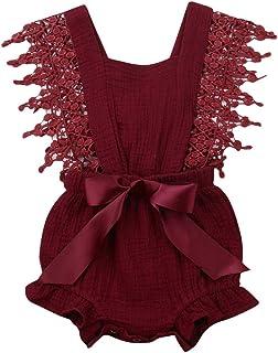 5f68e71f0 Newborn Infant Baby Girl Clothes Lace Halter Backless Jumpsuit Romper  Bodysuit Sunsuit Outfits Set