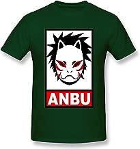 Hytgred Dog-Bruce-lee-dj Anbu Summer Air Permeability Charm Leisure Time Forest Green Short Sleeve T-Shirt