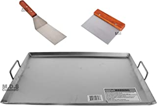 Griddle Flat Top Stainless Steel Grill Plancha Chef Pro Cooking Comal Heavy Duty 19 1/2