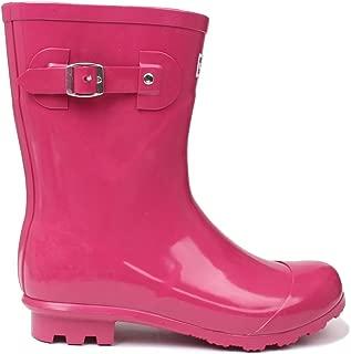 Kangol Womens Low Ladies Wellies Slip On Wellington Boots Rubber Rain