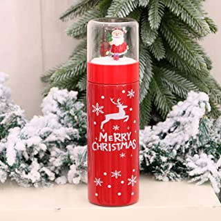BellyLady Vacuum Cup Christmas Thermos Stainless Steel Vacuum Bottle Insulated Bottle Tumbler Xmas Gift Deer