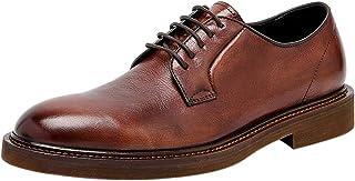 Derby Zapatos de Cordones para Hombre Cuero Casual Formal Zapatos de Vestir Negro Marrón Verde