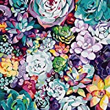 WJGJ Paint by Numbers for Adults, DIY Canvas Oil Painting Kit for Beginner & Kids 40 x 50cm(Color plant)