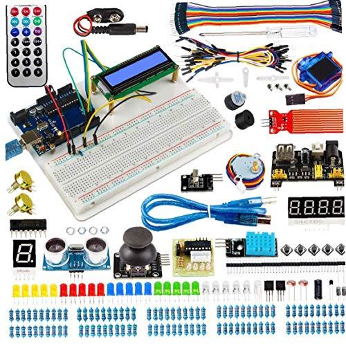 ZYCX123 Projekte Starter Kit elektronische Element Kit Super Zündschaltung BreadBorad Kit Kompatibel mit Arduino Industrieverbrauchsgut