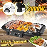 Meneflix 2000W Electric BBQ Griddle Table Smokeless Grill (Black)