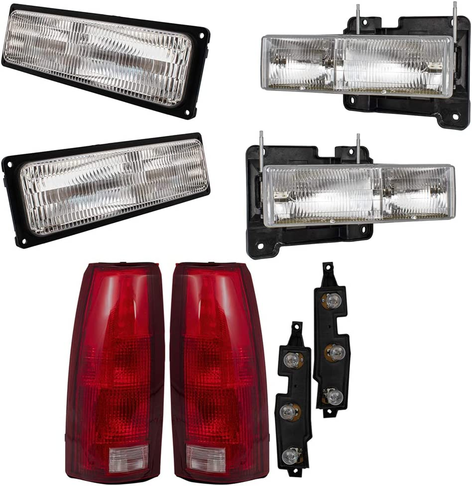 Brock Replacement 6 Pc Set Headlights ブランド品 and Composite Tail Lights 限定特価