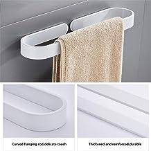 ZLDM Espacio de Aluminio Blanco Toallero de Montaje en Pared Toallero Polo único toallero Barra Prueba de óxido Sin Taladro para Cuarto de baño La Cocina Oficina
