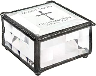 J Devlin Box 333 EB221 Personalized Confirmation Keepsake Box Engraved Glass Gift