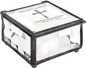 J Devlin Box 333 EB221 Personalized Confirmation Keepsake Box Engraved Glass Gift