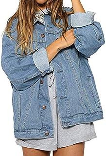60425025f4 Manteau Automne Hiver,LUCKYCAT Veste Denim Retro Manches Longues Veste en Jeans  Femme Robe Pardessus