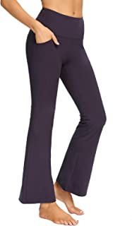 Bootcut Yoga Sports Legging High Waisted Full Length Bootleg Pants for Workout Running