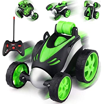 Toyshine Vibe Remote Control Car RC Stunt Vehicle 360°Rotating Rolling Radio Control Electric Race Car Boys Toys Kids Gifts Light Multi Color