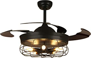 NOXARTE Industrial Ceiling Fan with Lights and Remote...