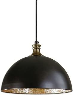 Uttermost 22028 Placuna 1 Light Pendant, Bronze