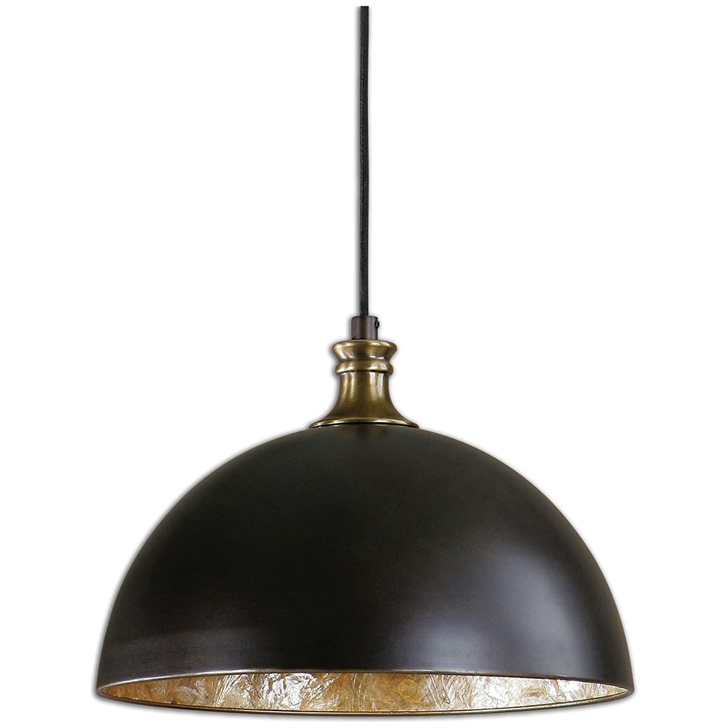 Uttermost 22028 Placuna 1 Light Pendant, Bronze by Uttermost