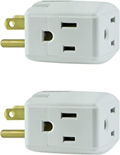 2 x GE Grounded 3-Outlet Tap, 58368