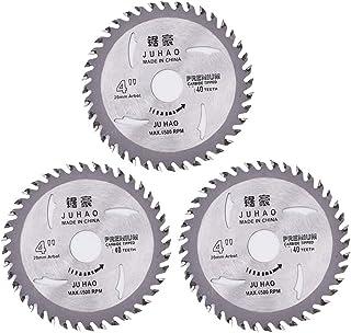 BETOY 3 Piezas Hoja de Sierra Circular, Disco de TCT Hojas de Sierra Circular Disco de corte giratorio de plata, para Made...