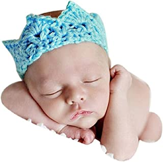 DZT1968® Newborn Baby Newest Princess Crown Tiara Turban Headband Headwear Hair Band Cap Hat (2-10 Months)