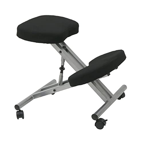 Cushion Top//Metal Frame 47 x 63 x 64 cm Black EazyGoods Ergonomic Kneeling Orthopaedic Posture Office Laptop Stool Chair Seat Without Back