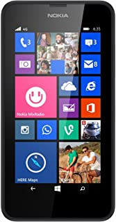 Nokia Lumia 635 8GB Unlocked GSM 4G LTE Windows 8.1 Quad-Core Phone - Black