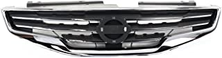 New Front Grille For 2010-2012 Nissan Altima Sedan Chrome Shell With Black Insert NI1200236
