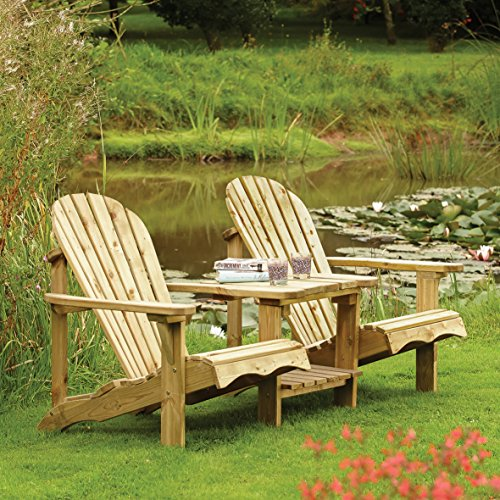 Rowlinson SWADIRO2 Square Picnic Table, Natural, 198 x 198 x 75 cm