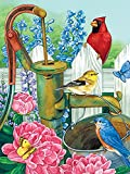 5D DIY pintura de diamantes pájaro bordado de diamantes flor Animal mosaico venta decoración del hogar regalo pintura de diamantes A14 45x60cm