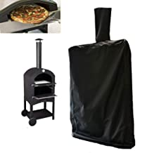 J&C Outdoor Pizza Oven Cover Outdoor Black Pizza Oven Protection Weather Resistant Dustproof Pizza Oven BBQ Rain Cover for...