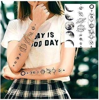 Qqinghan Water Transfer 3D Star Blace Planeet Boom Tijdelijke Tattoo Sticker Voor Kinderen Vrouwen Mannen Wolf Lion Tree T...