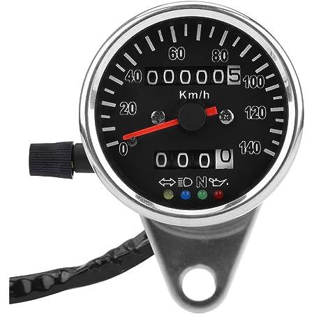 Qiilu Universal Motorrad Dual Kilometerzähler Geschwindigkeitsmesser Speedo Meter Gear Digital Display Auto