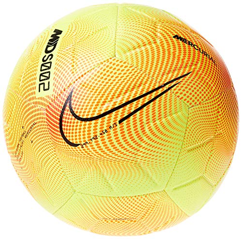 Nike CR7 NK STRK-SP20, Pallone da Calcio Unisex Adulto, Lemon Venom/Total Orange/Black, 5