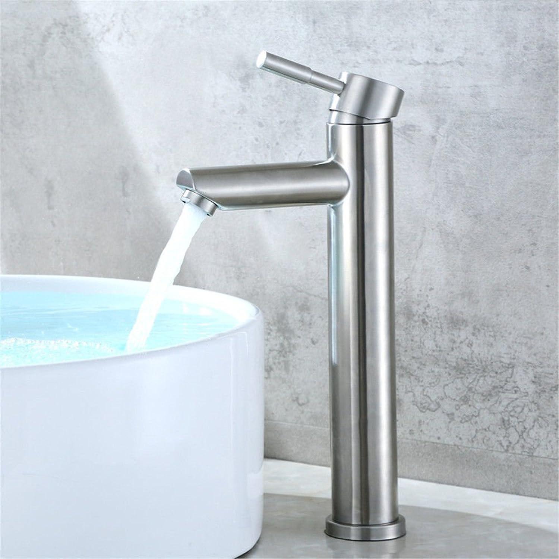 ETERNAL QUALITY Bad Waschbecken Wasserhahn Küche Waschbecken Wasserhahn Erhhte Single Hole 304 Edelstahl Hei Und Kalt Waschtischmischer BQ1271ca