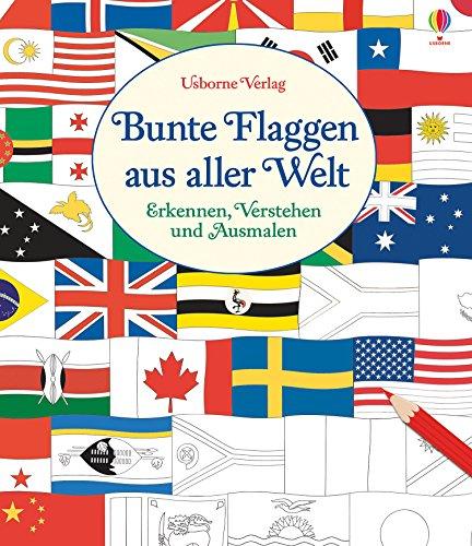 Bunte Flaggen aus aller Welt: Erkennen, Verstehen und Ausmalen