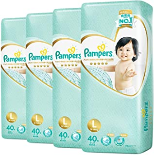 Pampers Premium Care Tapes, Large, Carton, 40 Count (Pack of 4)