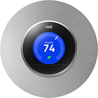 Humble Abode Creations Nest Thermostat Wall Plate, 6 Inch Stainless Steel Cover Plate, Fits Generation 1, 2, 3, E Nests