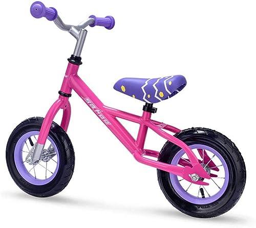 BGROEST-SP Voiture   Enfant Enfants   Bike Boy Girl 2 Couleur Vélo de Course en Option Vélo sans Pied (Couleur   Rose, Taille   62cm18cm34cm)