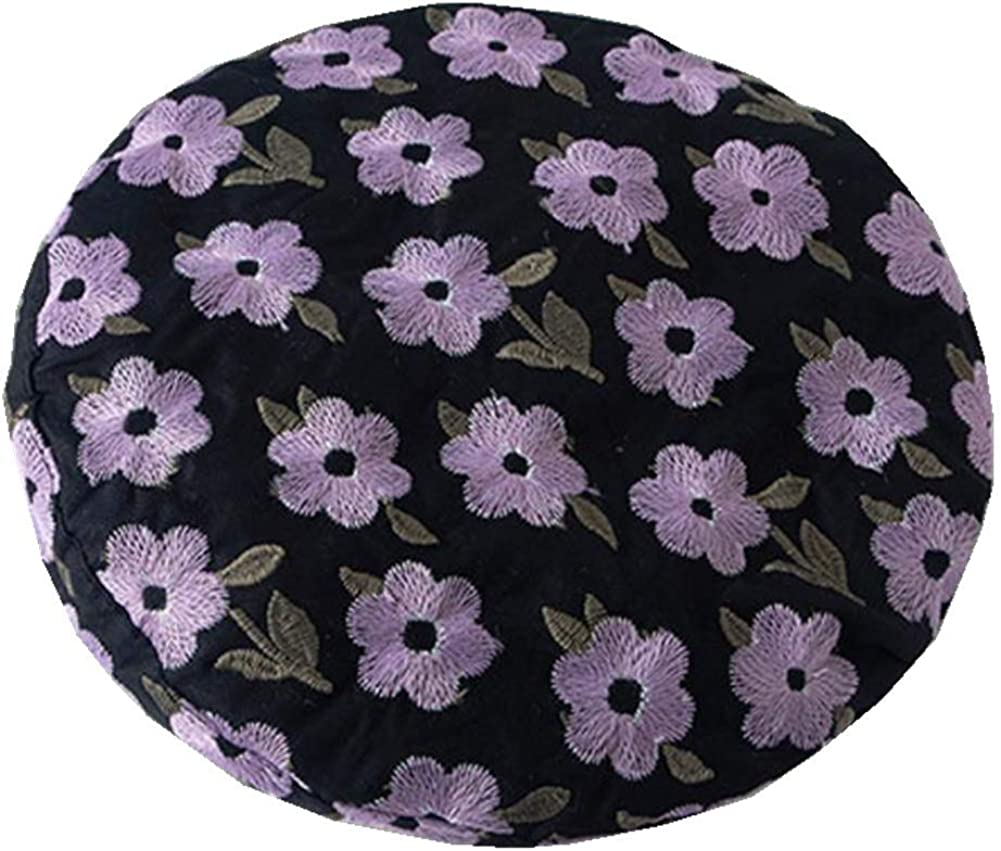 BenU Women's Beret Hat Soft Lightweight Cotton Hat for Girls Adjustable Embroidery Cute Caps Beanie Hat
