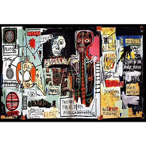 yuyu-beautiful Graffiti Jean Michel Basquiat Carteles E Impresiones Lienzo Póster Arte De La Pared Y Lienzo De Arte Impresiones De La Pared Imagen para Decoración del Hogar 50X70Cm Sin Marco