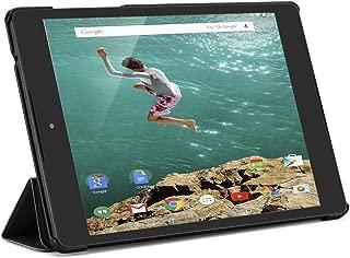 Kusen Google Nexus 9 Tablet Case with Shock Absorption Ultra-Thin PU Leather Triple Folding Performance for Google Nexus 8.9 inch Tablet (Black)