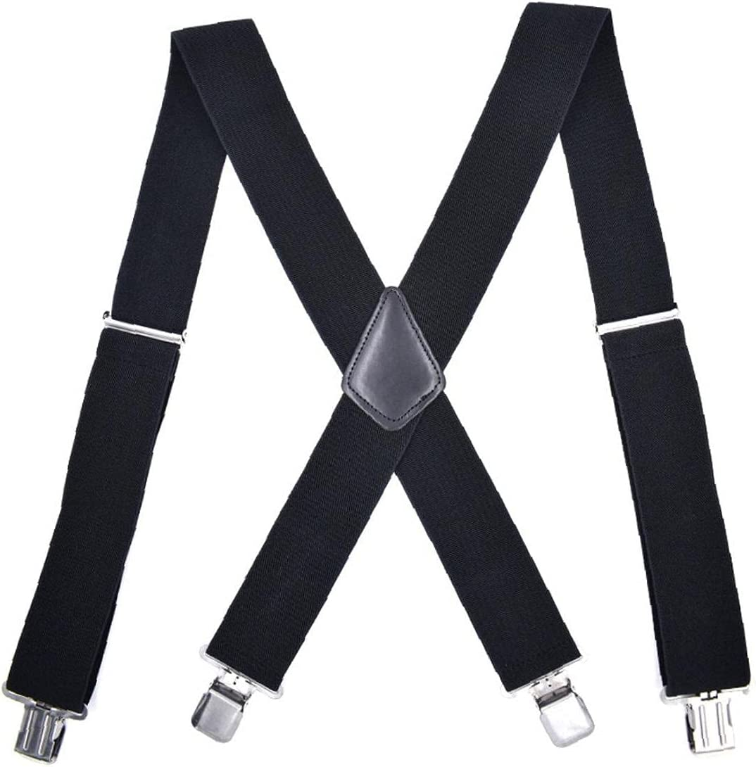 Froiny 1 Pc Men Braces with 4 Clips Elastic Widening M-Shaped Suspender Adult Men Trousers Shirt Decorations